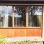 Gulstensvilla med nye mahognivinduer
