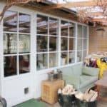 Terrassedør i pvc med kattelem til terrassen