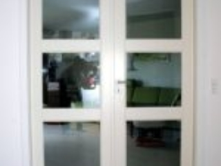 Hvid dobbelt glasdør