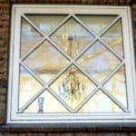 Flot vindue med speciel glas inddeling
