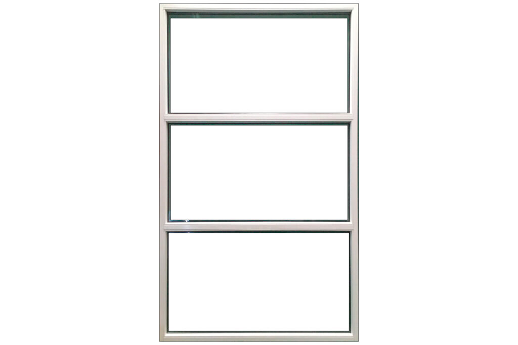 Flot vindue med 3 glasfelter