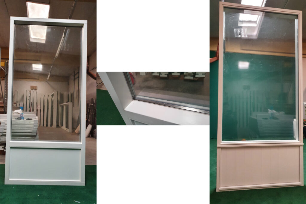 Stort vindue i klart glas
