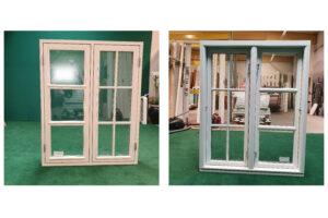 Hvidt vindue med forskellige sprosser